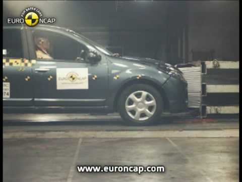 euro ncap dacia sandero 2008 crash test youtube. Black Bedroom Furniture Sets. Home Design Ideas
