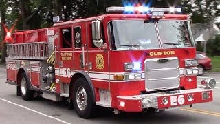 Clifton Fire Department Engine 6 And EMS-1 Responding 9-2-18