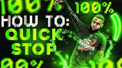 HOW TO QUICK STOP IN NBA 2K20!! BEST DRIBBLE SIGS AFTER PATCH | HOW TO STOP AND GO!!