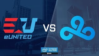 CS:GO - Cloud9 vs. eUnited [Mirage] Map 3 - UB Ro2 - IEM Chicago 2018 NA Closed Qualifiers