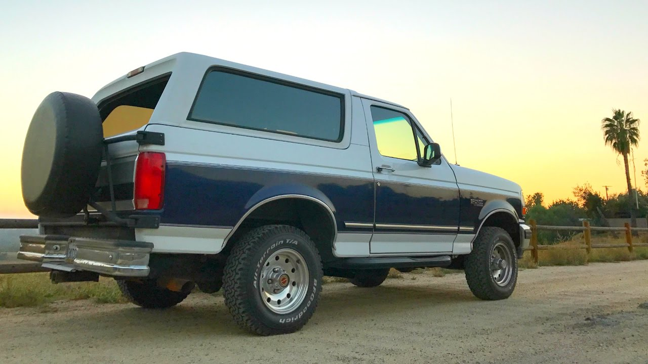 1994 full size ford bronco review youtube 1994 full size ford bronco review