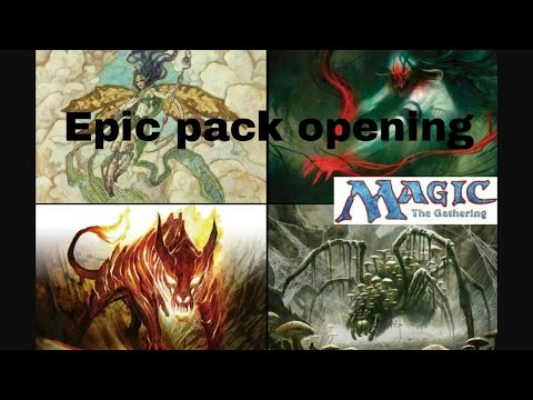 Awesome magic the gathering pack opening.