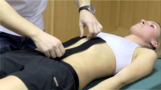 Аппликация для поддержки прямых мышц живота.