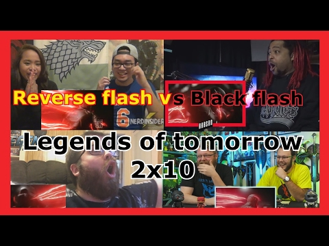 "Reacciones: Reverse Flash vs Black Flash | Legends of tomorrow 2x10 '""Legion of Doom"""