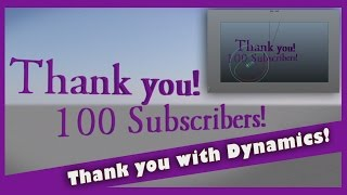Thank You! 100 Subscribers