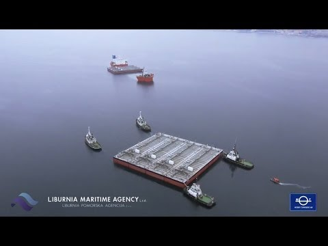 LIBURNIA MARITIME LOADING 7 BARGES ON SEMISUB VESSEL