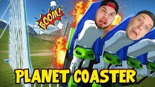 ROLLER COASTER CRASH DISASTER!! - Planet Coaster! #2 W/AshDubh!
