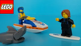 60011 Lego City Surfer Redding uitpakken ~ Unboxing 60011 Lego City Surfer Rescue