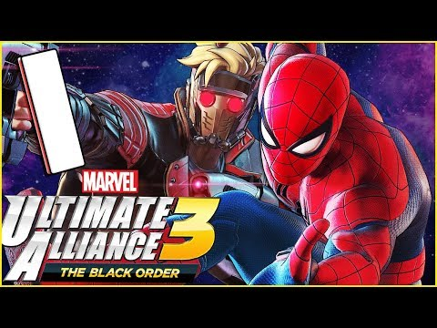 Marvel Ultimate Alliance 3: The Black Order Walkthrough Part 1 Kree Ship (co-op)