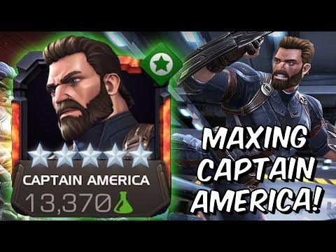 5 Star Rank 5 Captain America Infinity War Rank Up & Gameplay - Marvel Contest Of Champions