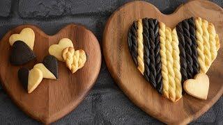 ニット模様のハートクッキー♡| Heart shaped cookies ニット模様のクッ...