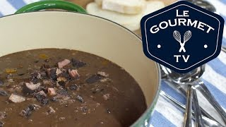 Ham & Black Bean Soup Recipe - Le Gourmet Tv