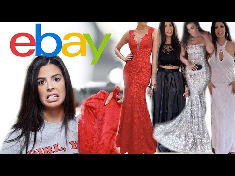 SCAM!! TRYING ON CHEAP EBAY PROM DRESSES