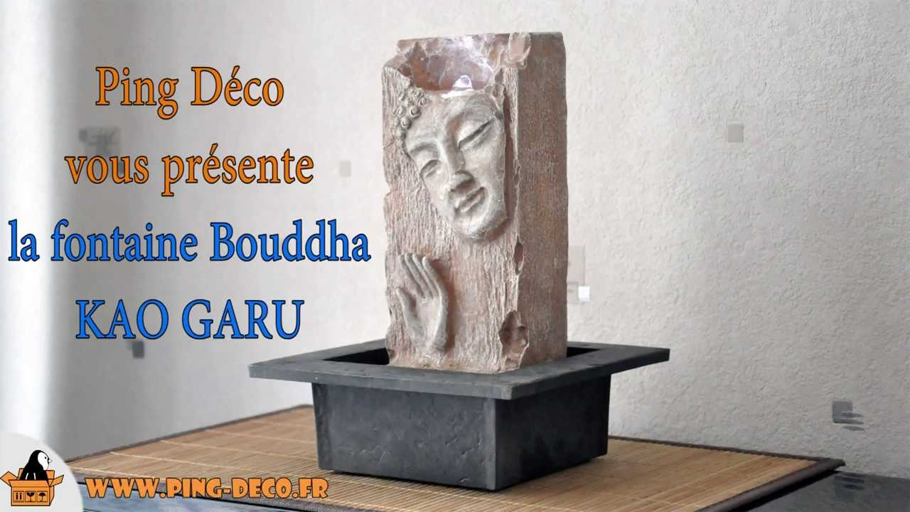 fontaine interieur zen bouddha kao garu www ping deco fr youtube. Black Bedroom Furniture Sets. Home Design Ideas