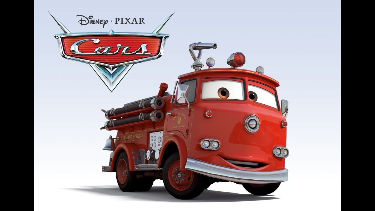 red fire truck deluxe 3 disney pixar cars 2 diecast cars. Black Bedroom Furniture Sets. Home Design Ideas