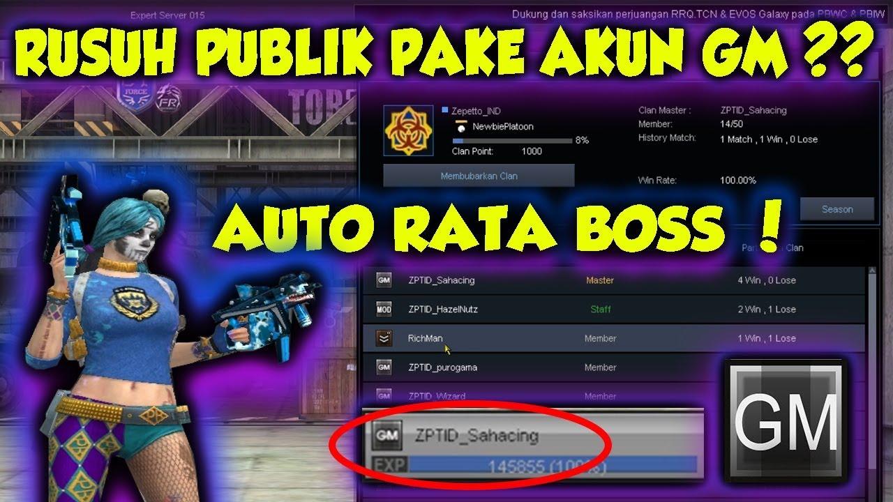 Hack Char Gm Di Buat Rusuh Publik Pointblank Indonesia Youtube