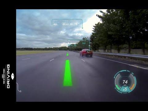 Jaguar Land Rover Virtual Windscreen Technology