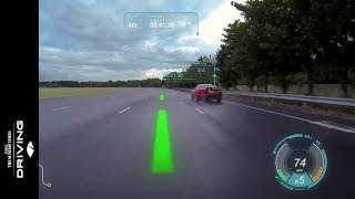 Jaguar Land Rover Virtual Windscreen Technology