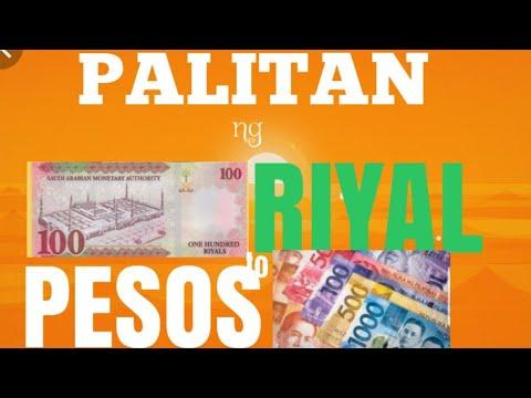 PALITAN NG PERA  SA SAUDI RIYAL TO PESOS
