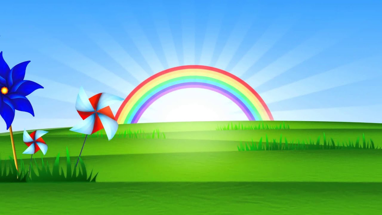 Fondo animado paisaje arco iris full hd animate for Imagenes fondos animados