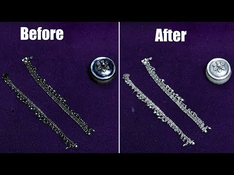 How to Clean Silver items at home - Polish Silver Pooja items at Home
