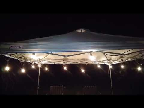 Proxy Lighting 48 FT Weatherproof Outdoor String Lights Patio Party BBQ Camping#Proxy Lighting