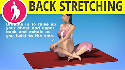 Pregnancy Exercise: Upper Back Stretch During Third Trimester Pregnancy