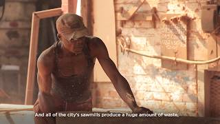 DRC: Producing charcoal briquettes from sawmill waste