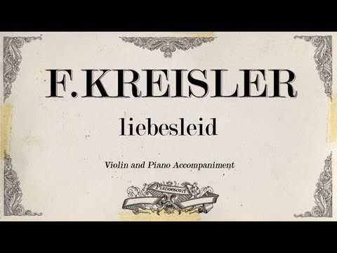 F.Kreisler - liebesleid - Piano accompaniment