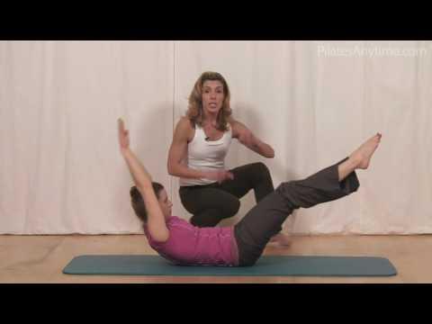 Pilates Exercise Double Leg Stretch