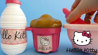 Unboxing Hello Kitty Toy Cup Cake for Toy Kitchen