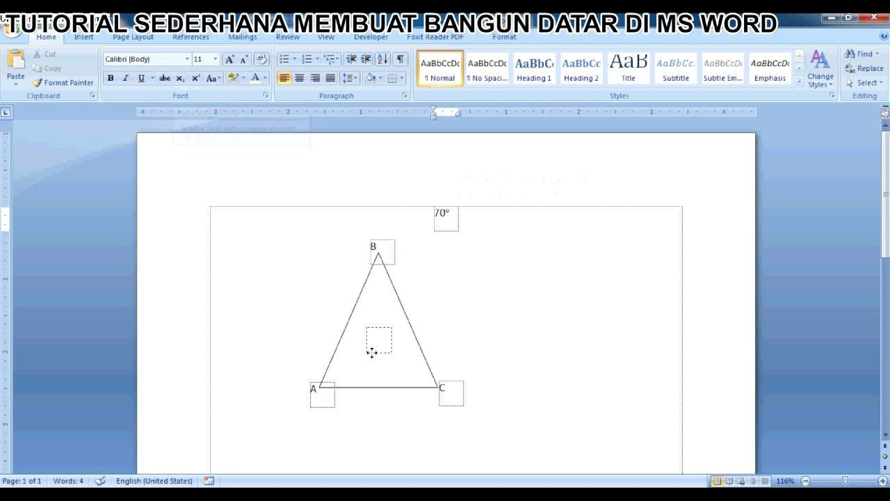 Tutorial sederhana cara menggambar bangun datar segitiga di ms tutorial sederhana cara menggambar bangun datar segitiga di ms word ccuart Gallery