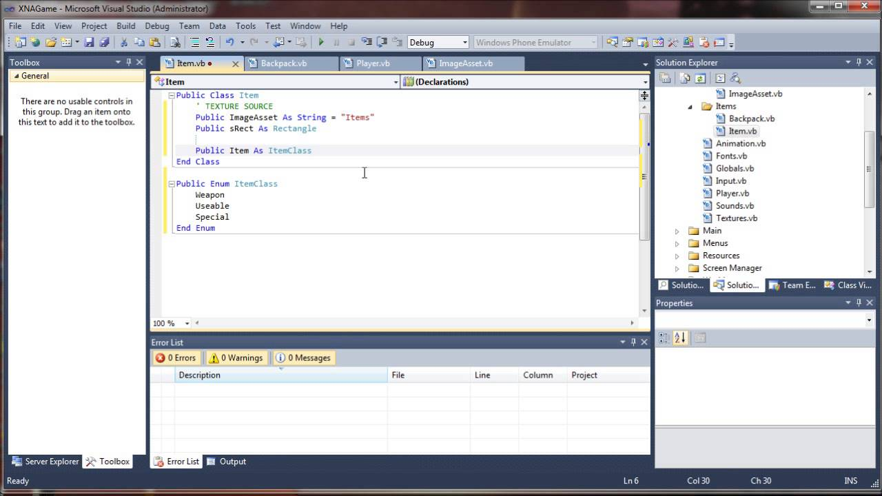 VB.NET Game Programming Tutorial - Stackable Inventory System ...