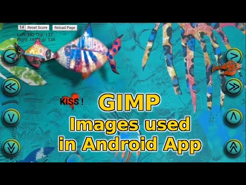 GIMP |  ANDROID APP (FISH KISS | GAME | Created With JavaScript | HTML | Ionic Cordova)
