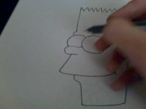 apprendre dessiner bart simpsons
