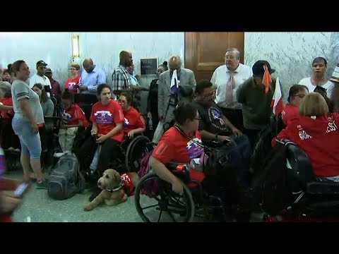 Associated Press: Hundreds Protest GOP Health Bill Outside Hearing