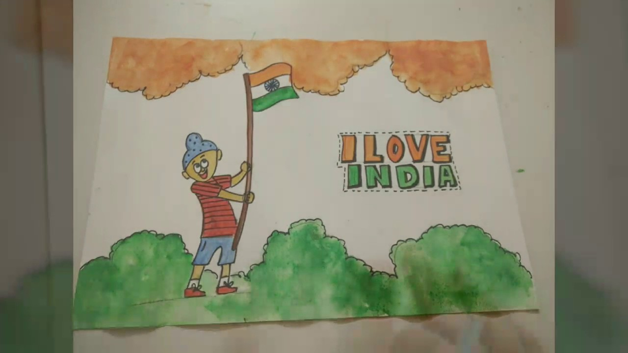 Indian flag patriotic drawing idea for kids how to craftlas youtube also rh