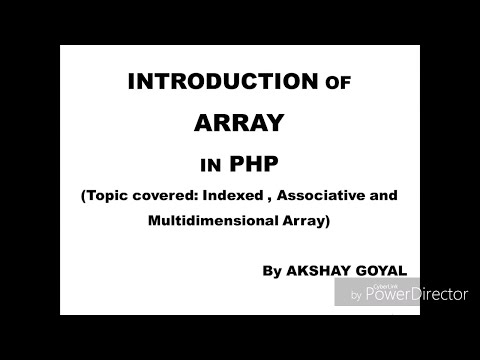 Indexed Array In Php | Php Indexed Array