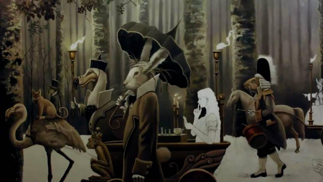 Edward Hd Wallpaper David Delamare Alice In Wonderland Painting Beware The