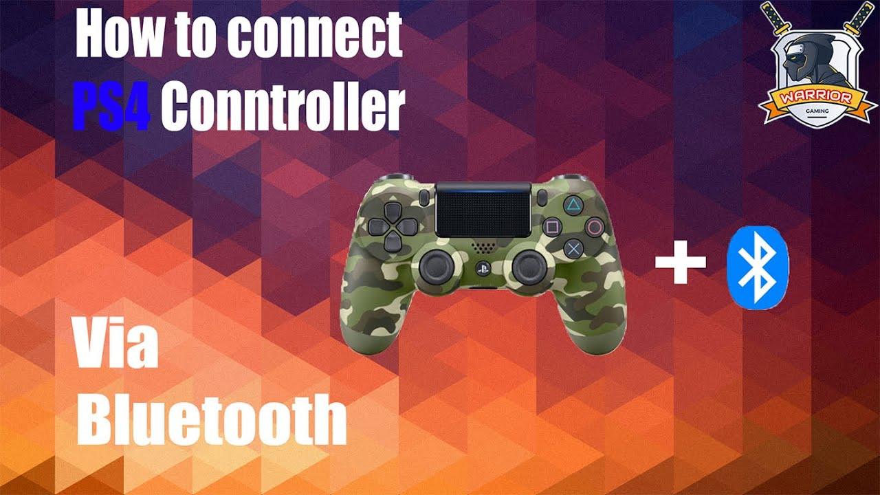 connect ps4 controller via bluetooth pc
