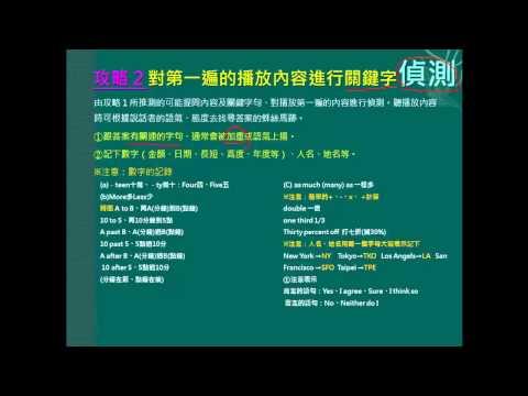 【林漢忠教授】英文聽力測驗攻略 (Power Point版)