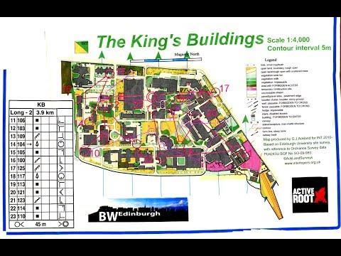 EUOC Big Weekend of Orienteering 2018 Night event King's Buildings Edinburgh 19 January
