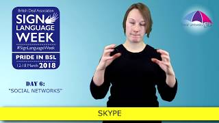 Sign Language Week 2018 - Day 6: Social Networks