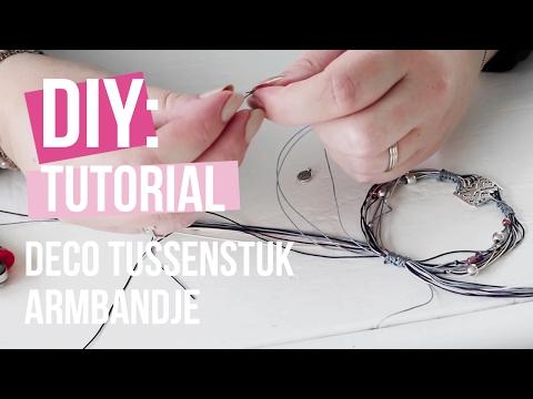 Sieraden maken: Armband met DQ Metaal tussenstuk deco ♡ DIY