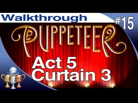 Puppeteer Walkthrough - Act 5 Curtain 3 (Fear of the Dark) PS3 Gameplay Playthrough