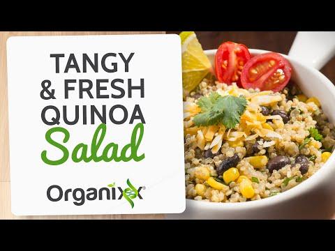 Tangy & Fresh Quinoa Salad   Healthy Quinoa Recipe    Organixx Recipe