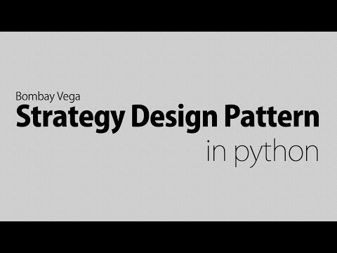 Strategy design pattern in python | object orientated programming in python