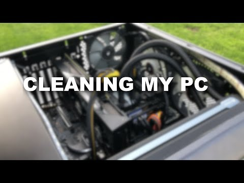 Air Compressor Cleaning a PC