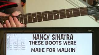 Nancy Sinatra These Boots Were Made For Walking Guitar Chords Lesson with Tab