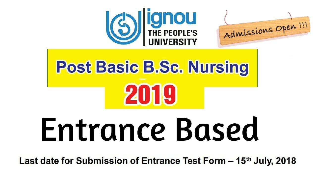 IGNOU BSC Nursing 2019 | Bsc Nursing Entrance Test 2019 |